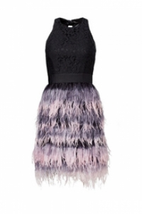 Milly Black Feathered Dress