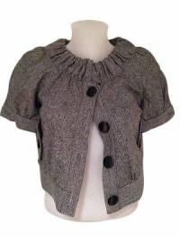 Tibi gray tweed cropped Jacket NWOT