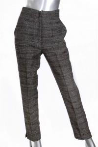 Gray and Brown Tweed Dress Pants