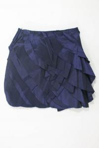 Iridescent Blue Tiered Front Pencil Skirt