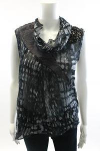 Yigal Azrouel gray Asymmetrical top w/Beads