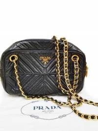 Prada Chain Leather Shoulder/Crossbody Bag