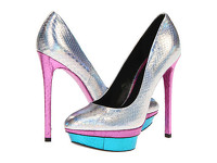"B Brian Atwood ""Fontanne"" Hologram Snakeskin Pumps"