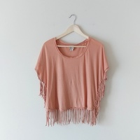 HauteHippie Fringe Top