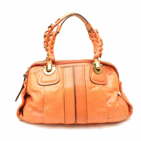 Chloe Orange Leather Handbag