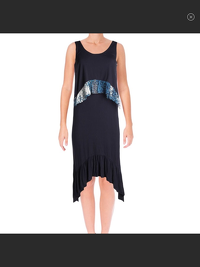 DVF Casual Dress with Perri Silk Accents NWT