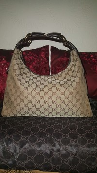 Gucci GG Canvas Horsebit Hobo