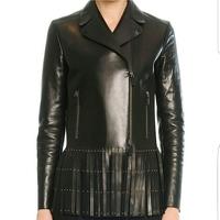 supple leather fringed jacket.