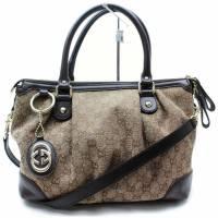 Gucci Hand Bag SUKEY2Way GG print Canvas