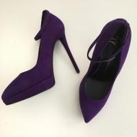 Purple Emy Suede High Heels Pumps