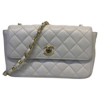 Chanel Flap Crossbody Bag in White