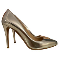 Prada Pumps/Peeptoes Leather in Silvery