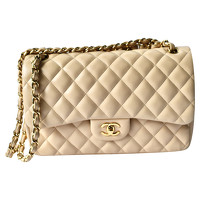 Classic Flap Bag Leather in Beige