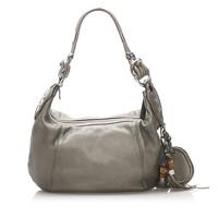 Gucci Shoulder bag Leather in Grey