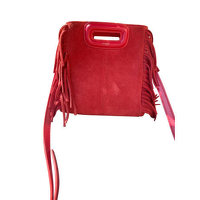 LEATHER SHOULDER BAG Maje