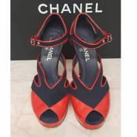 Chanel Sandals Patent leather in Red