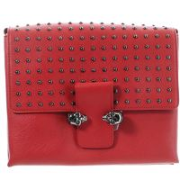 Alexander McQueen Studded Skull leather satchel