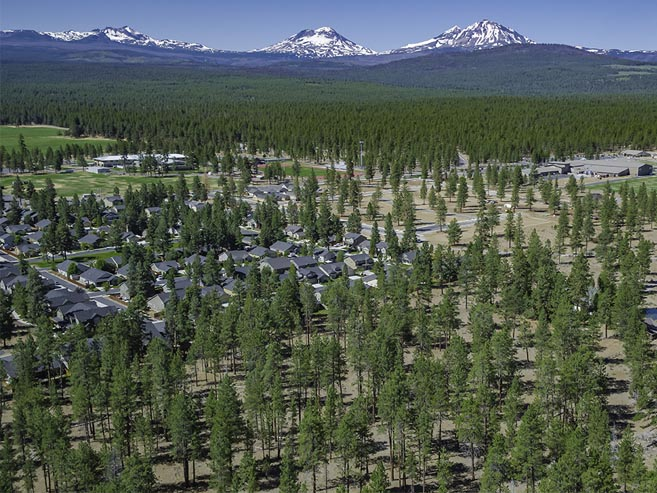 New Homes Near the Three Sisters Mountains from Sisters Oregon