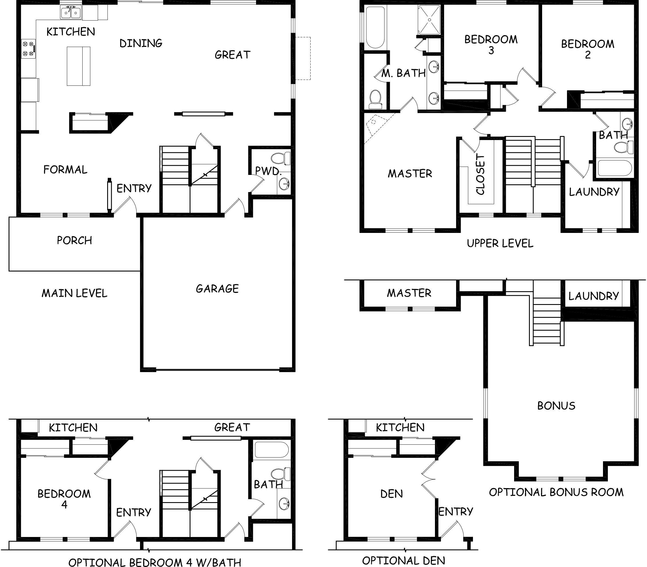 Stoneridge floor plan hayden homes for Hayden homes floor plans
