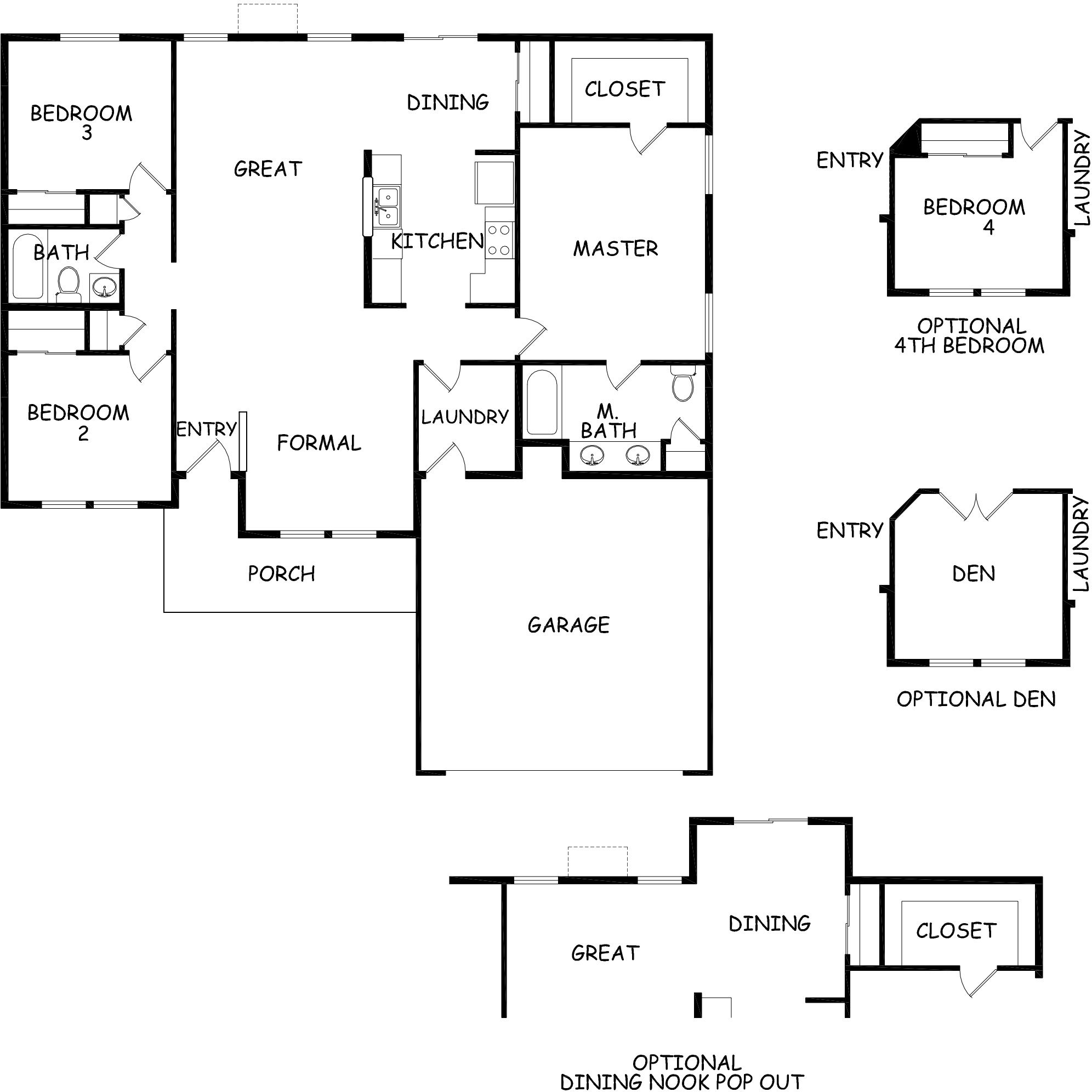 Hayden homes klamath floor plan