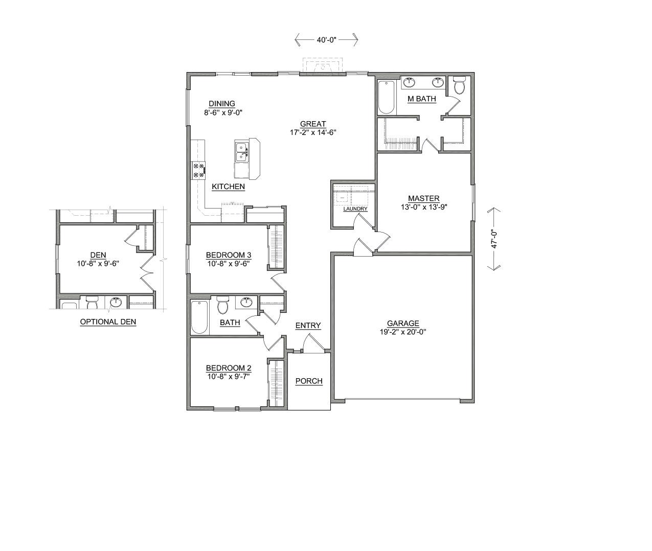 Hayden homes hudson floor plan for Floorplan or floor plan