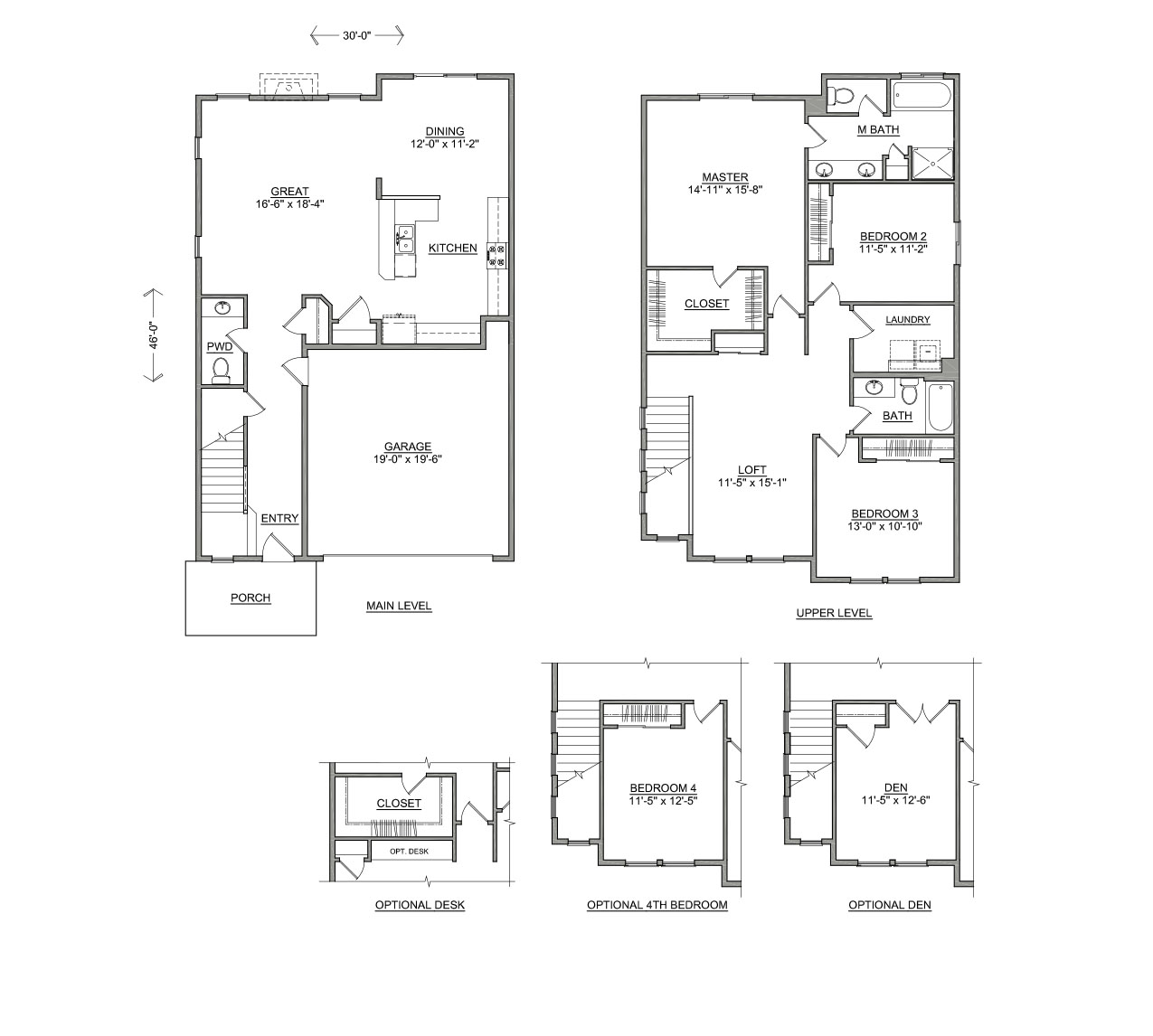 The Talent – Floor Plans For Square Homes