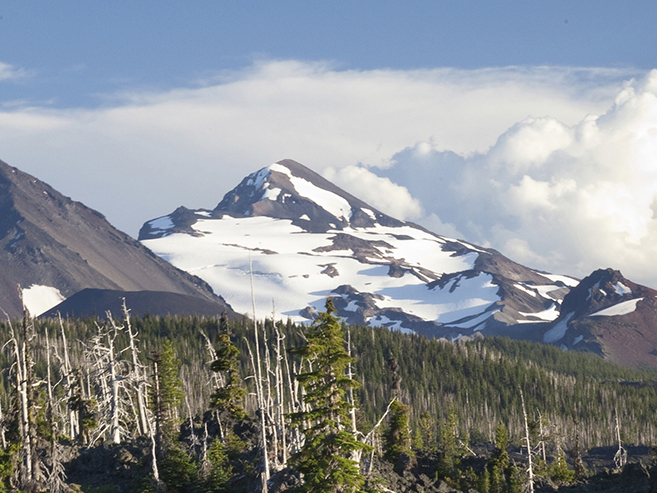 Cascade mountains in the Pacific Northwest USA.