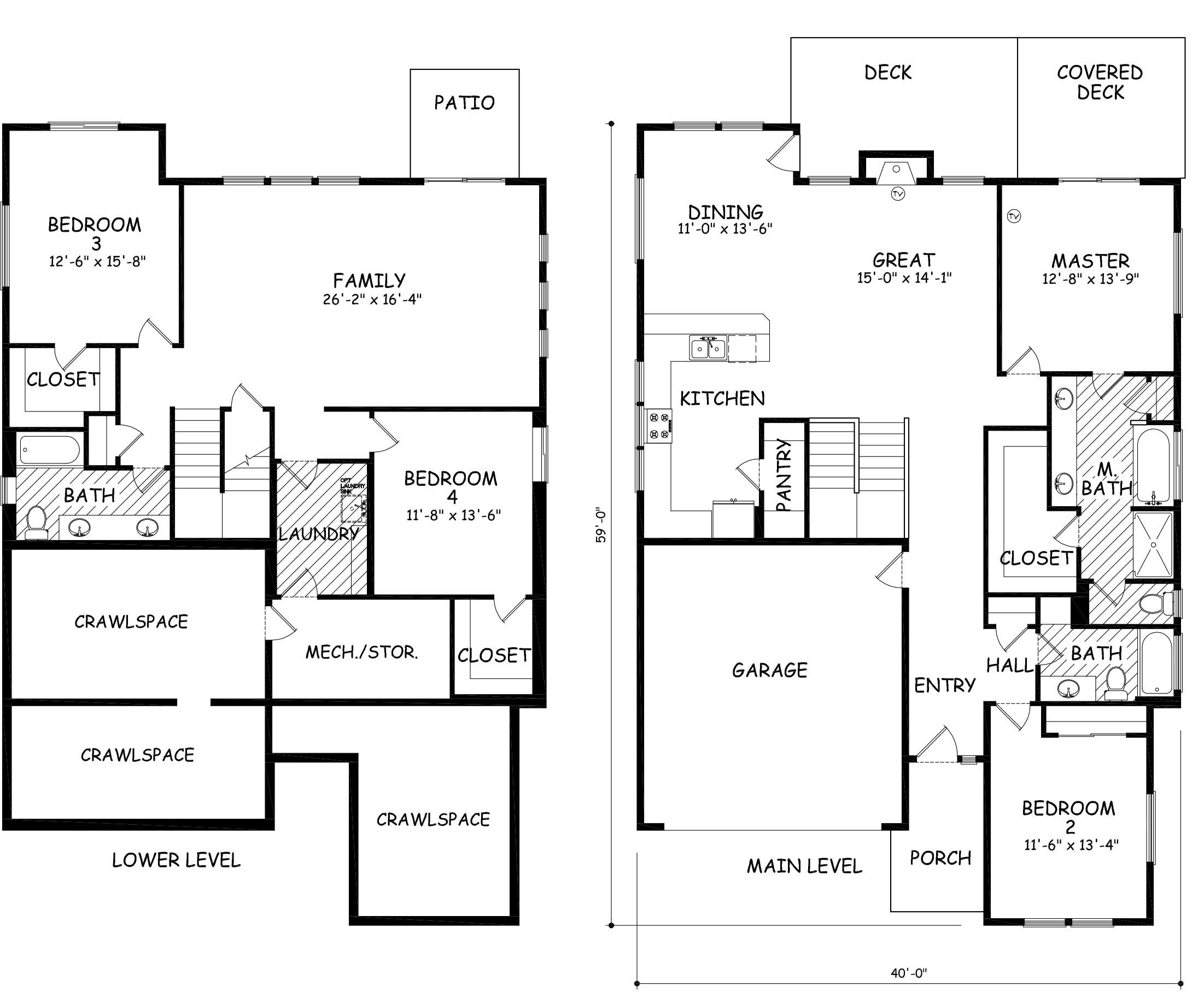 2956 daylight basement home in bend hayden homes for Hayden homes floor plans