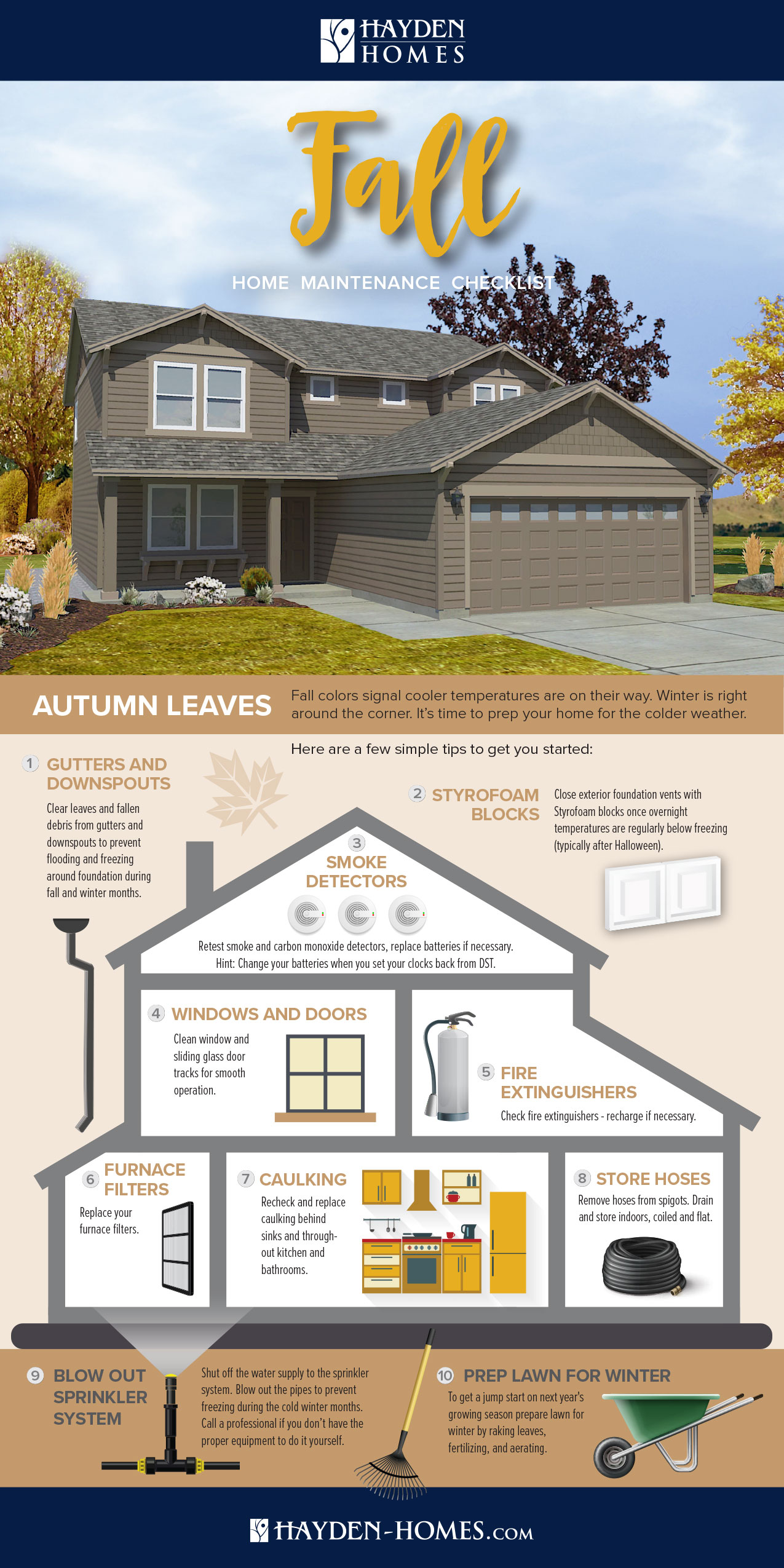 Fall Seasonal Home Maintenance Checklist