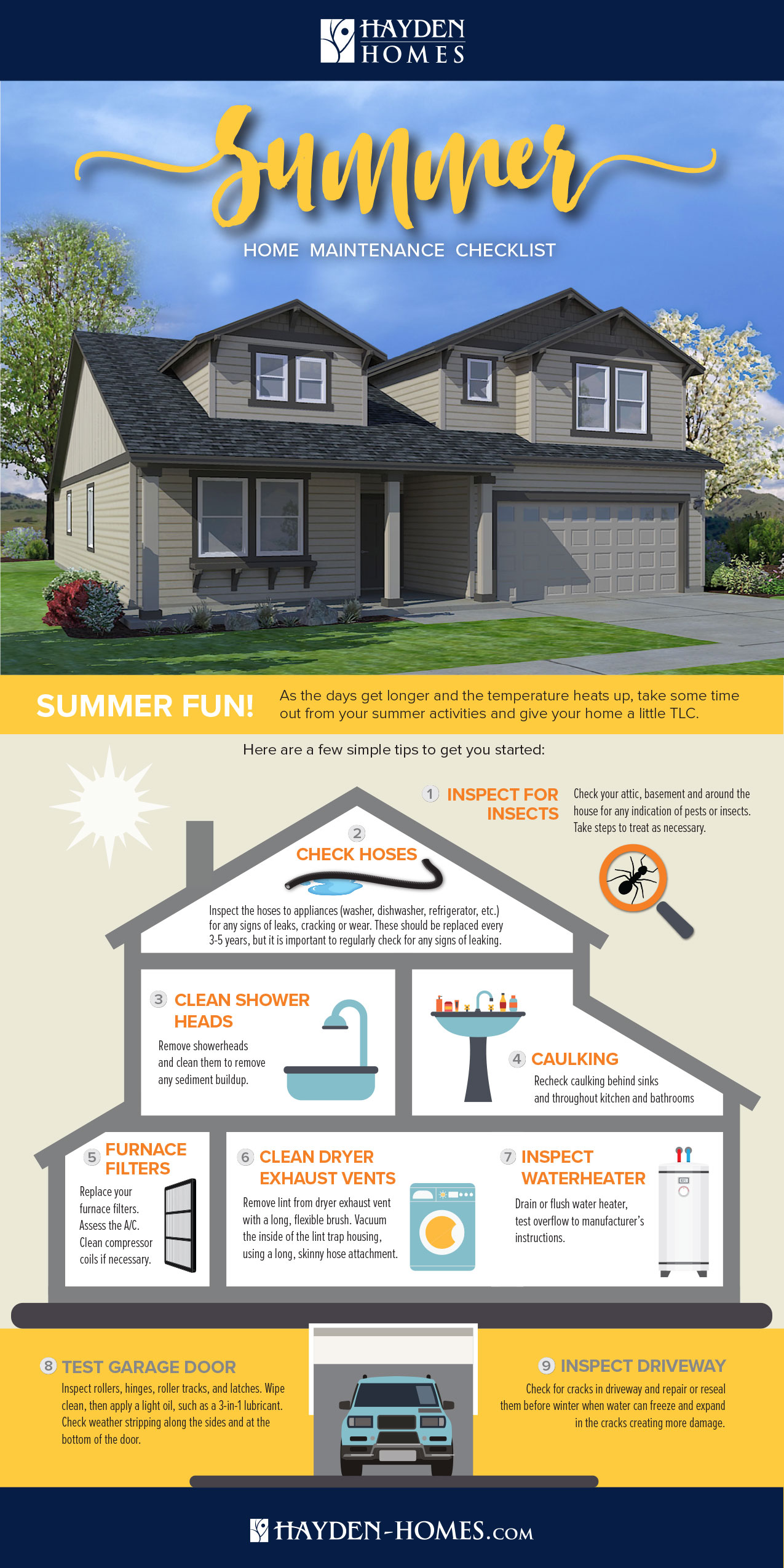 Summer Home Maintenance Tips [Infographic]