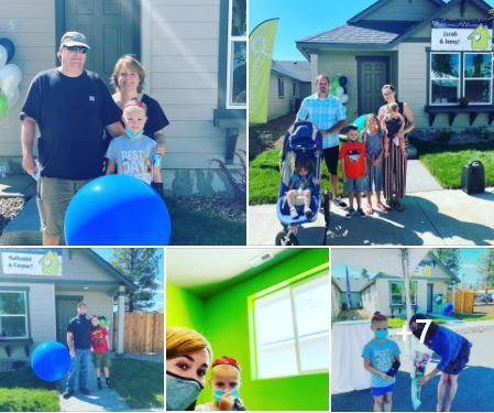 First Story Dedicates Three Homes to families in Sisters Oregon