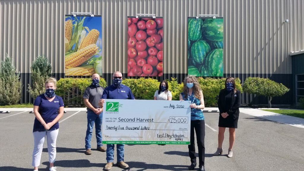 SECOND HARVEST, SURPRISED WITH $25,000 DONATION