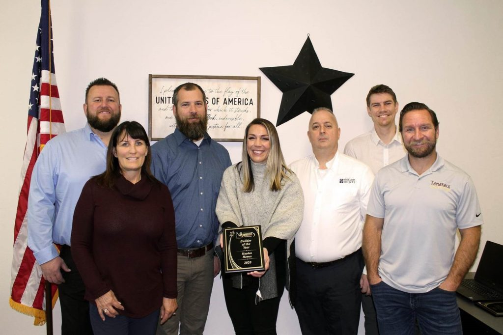 South Idaho Team with the 2020 Builder of the Year from Snake River Valley BCA 2020 Award