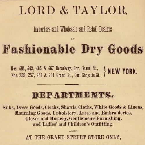 Hbc Heritage Lord Taylor Historical Timeline