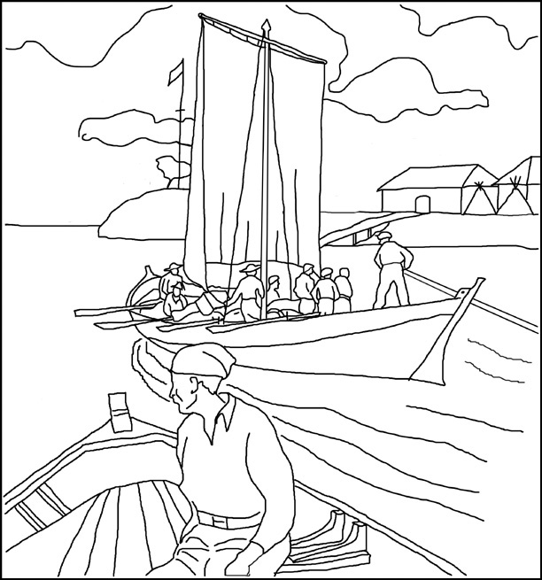 fur trade coloring pages - photo#8