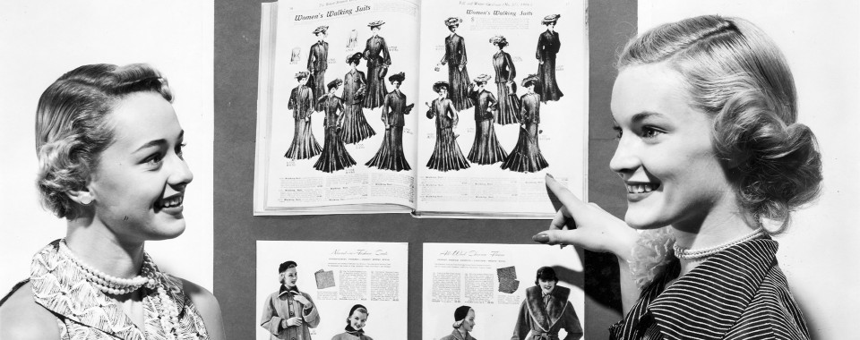 mailorder catalogues were a way for department stores to efficiently reach more customers than could come in person to locations