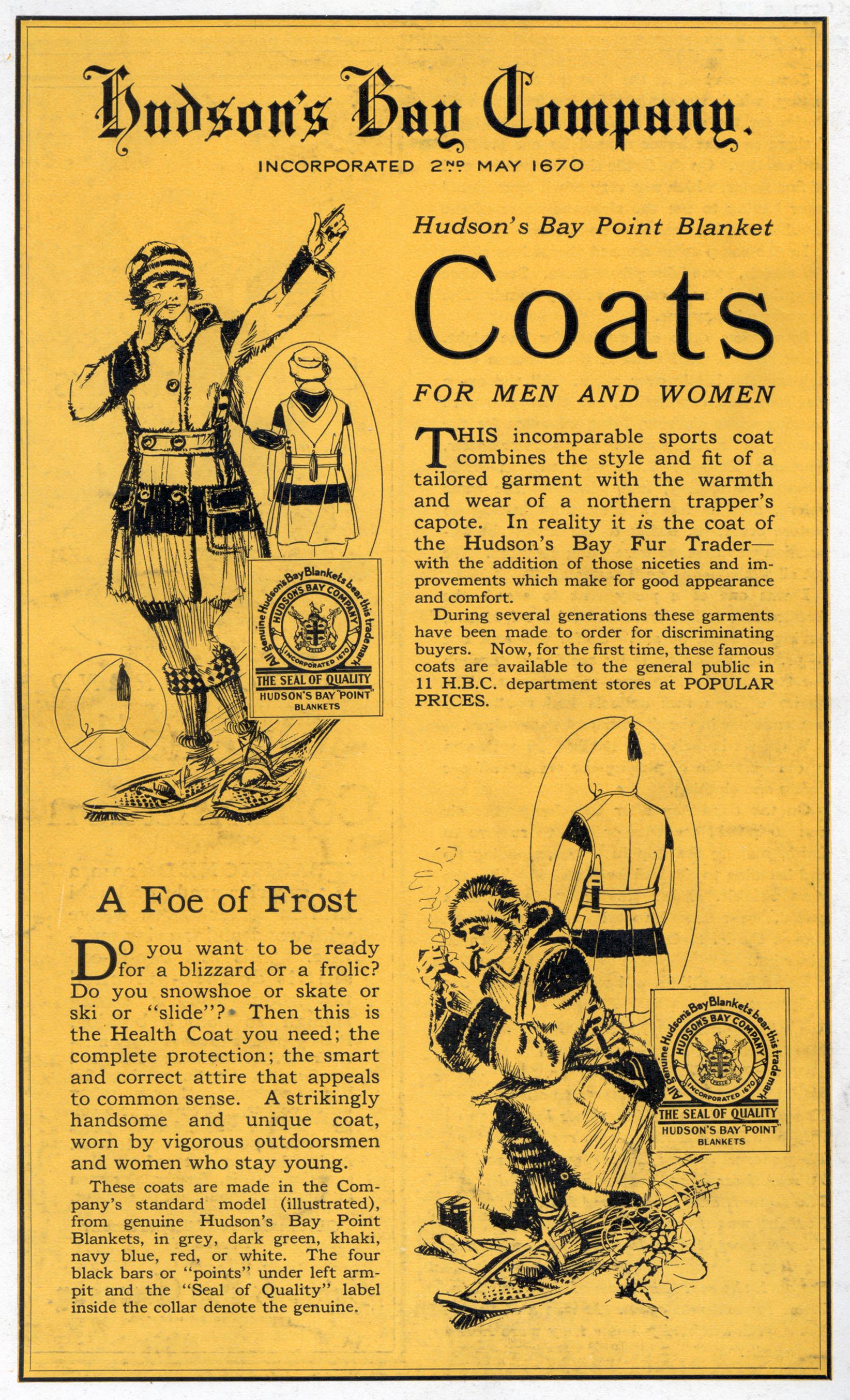 Hbc heritage hudsons bay point blanket coat commercial hudsons bay point blanket coats buycottarizona Choice Image