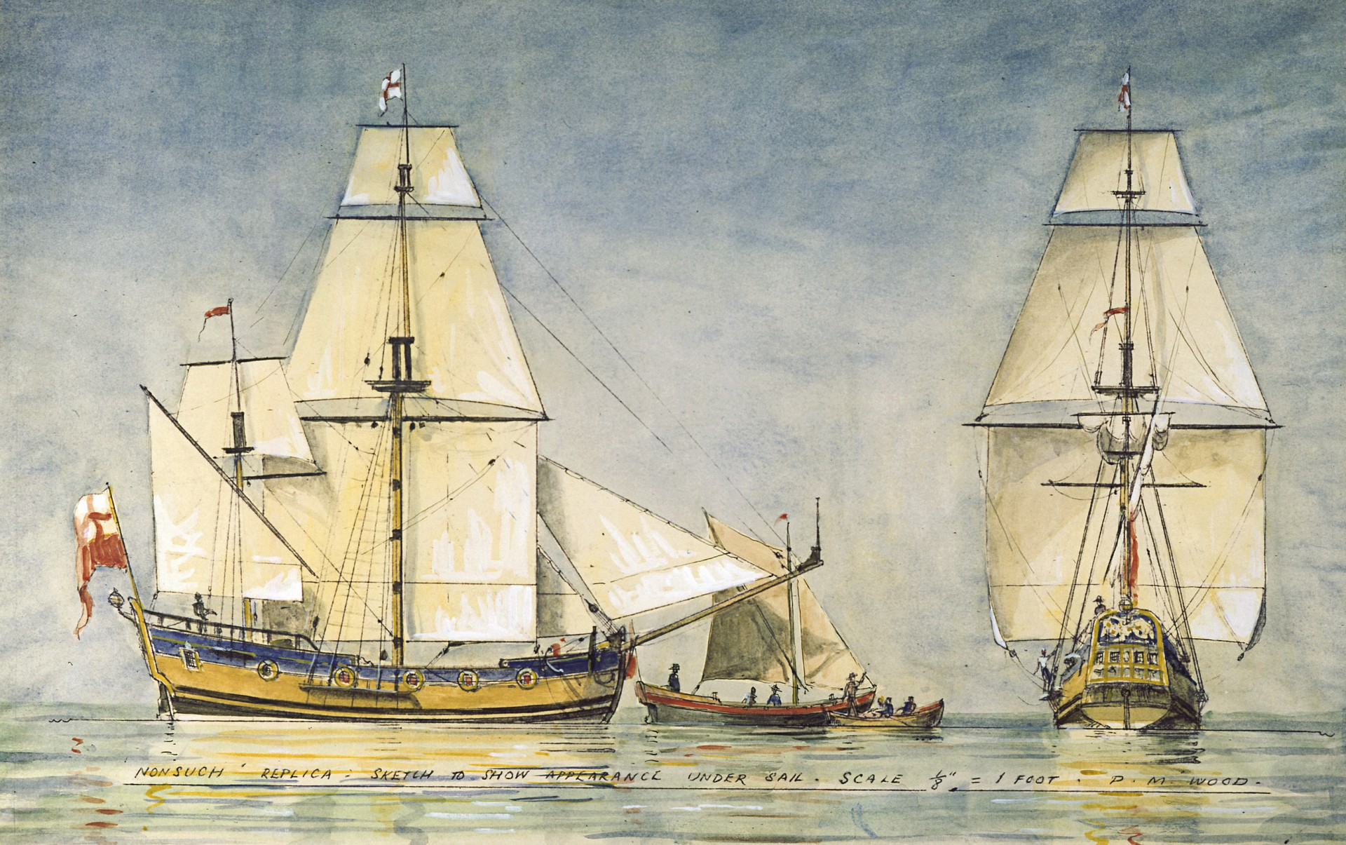 Hbc Heritage Nonsuch Sailing Ship Diagram Tall Ships Pinterest Replica Under Sail Hudsons Bay Company Archives