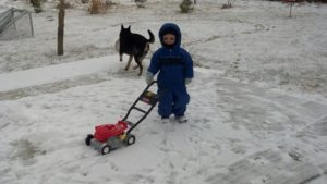 Mowing the snow