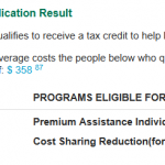 Connect for Health Colorado subsidy eligibility