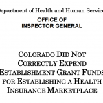 OIG audit Connect for Health Colorado