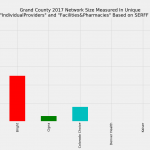 Grand County Colorado Individual Market Network Size Rating Based on SERFF Data
