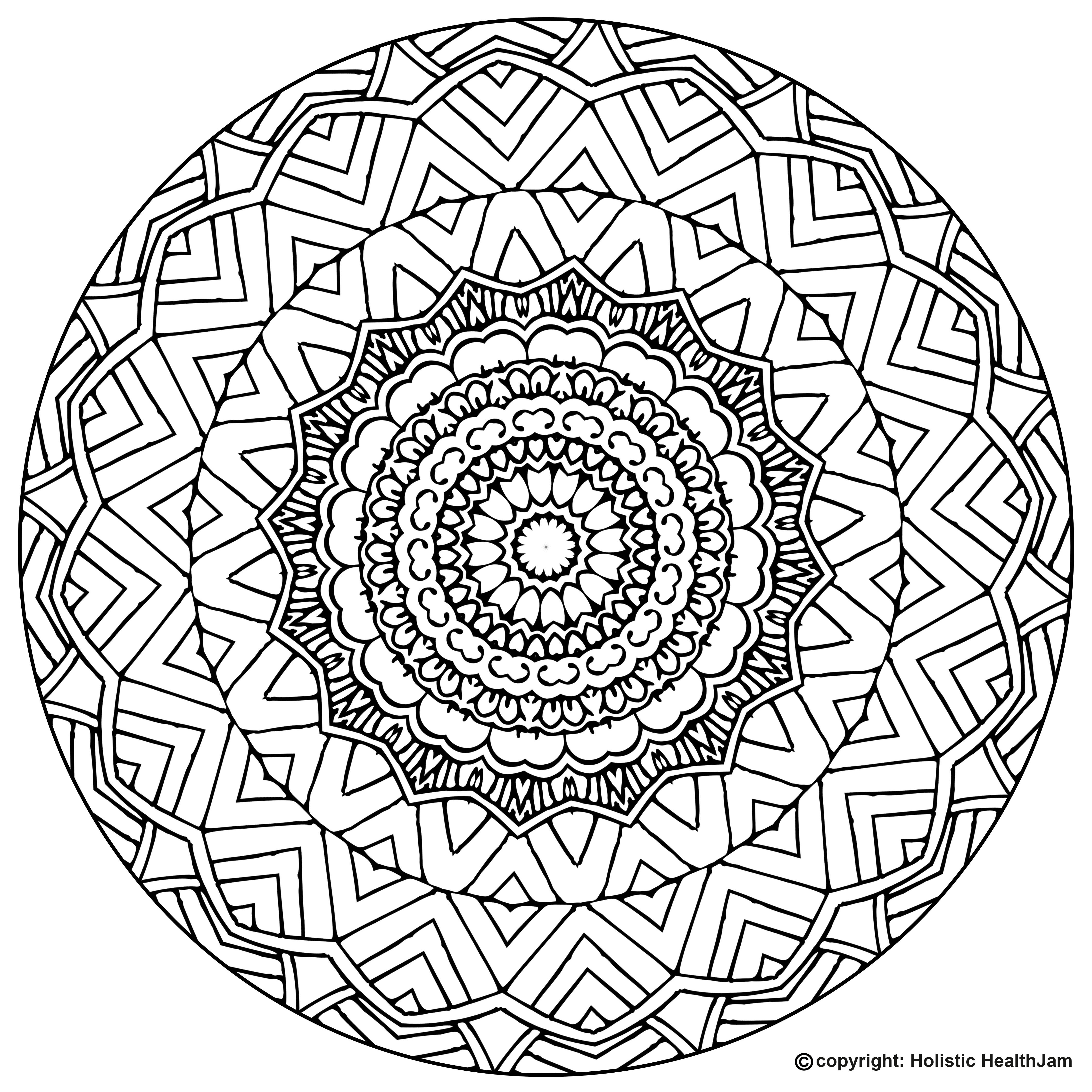 It is a photo of Smart Mandalas Print Out