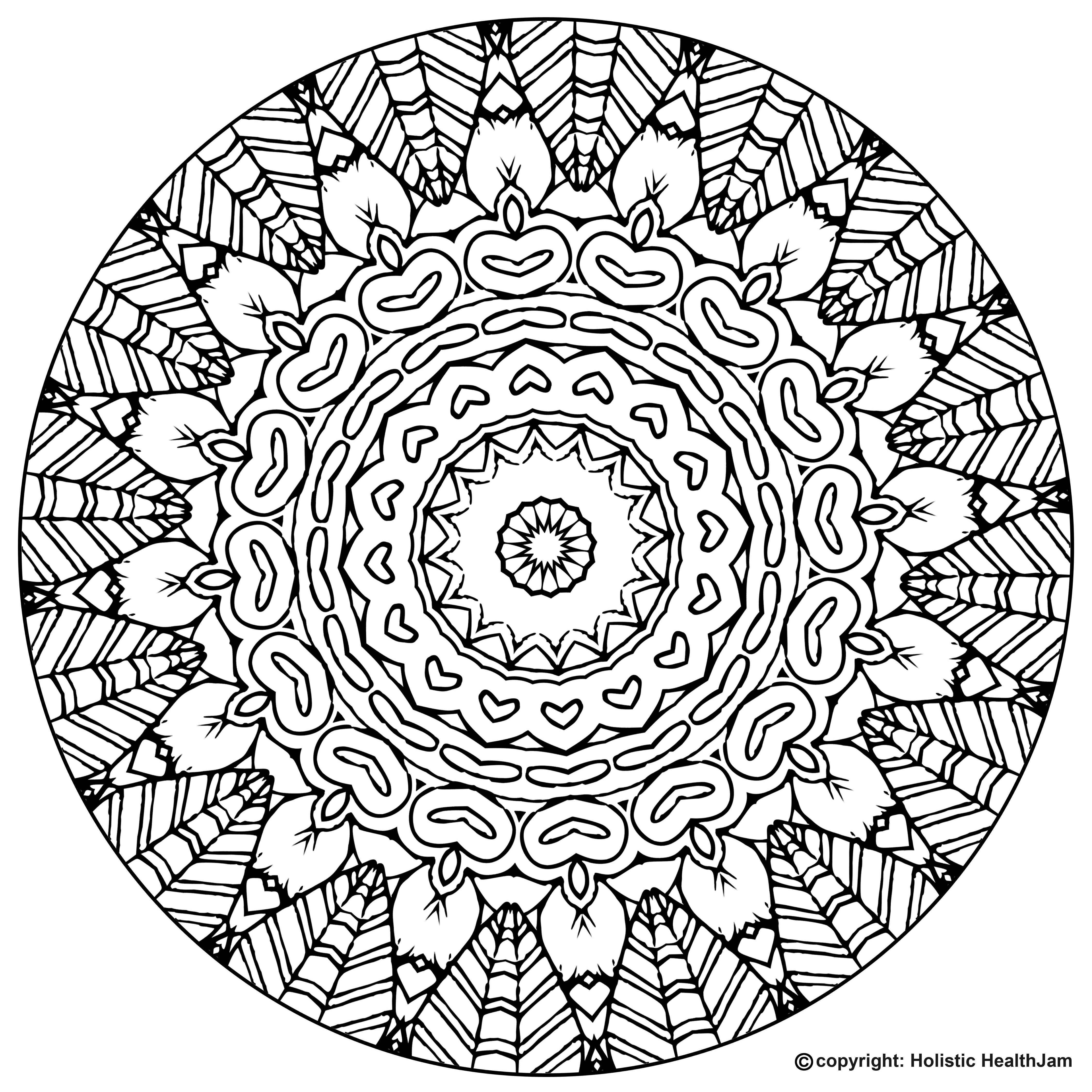 It is a graphic of Peaceful Mandalas Print Out