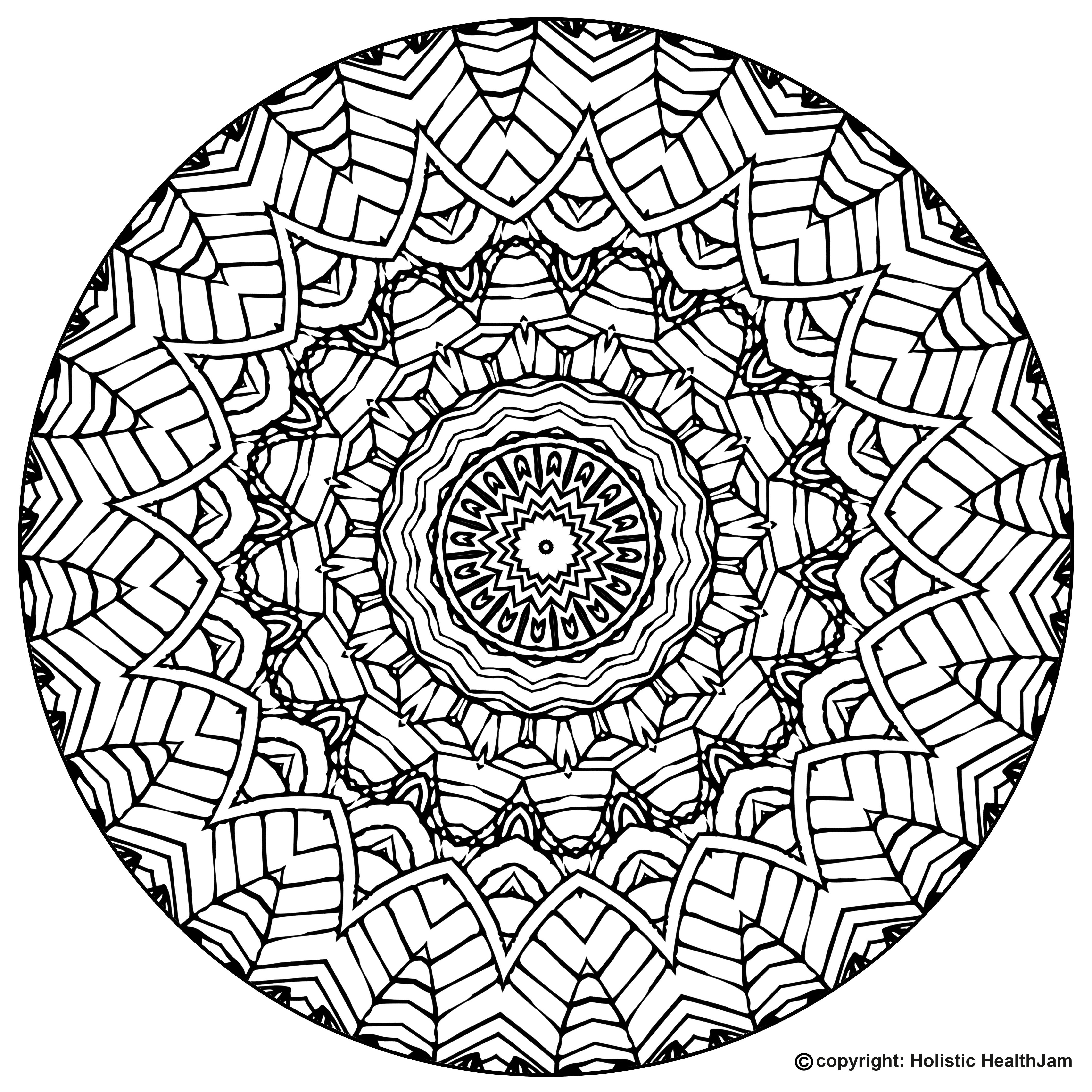 free printable mandala coloring book pages for adults and kids