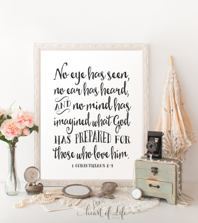 1 Corinthians 2:9, No eye has seen