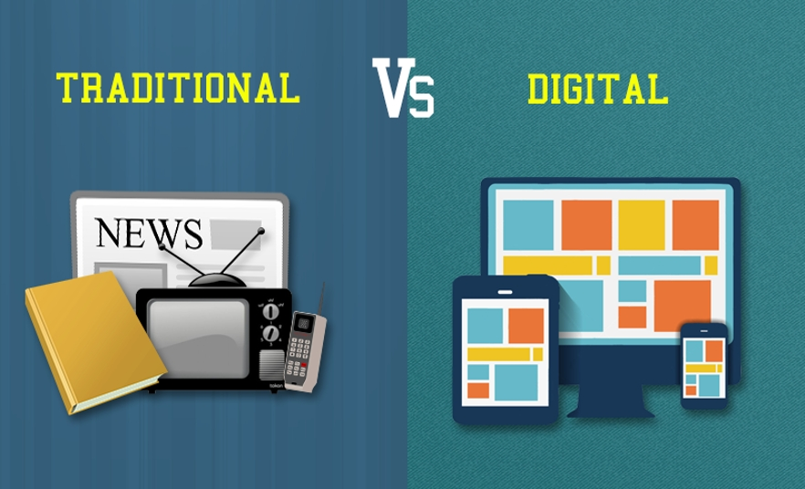 ?go traditional over digital essay Edit the ultimate relationship digital media has an advantage over traditional media as it allows enriches traditional - tv now buying on tablet at the same time digital media- the basics what is it going viral online marketing allows the opportunity for ads to go viral a strong promotion may be so.
