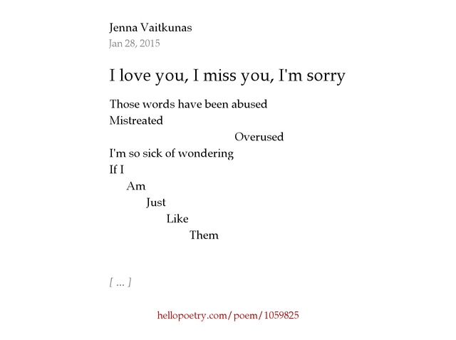 i am sorry i love you poems wwwpixsharkcom images