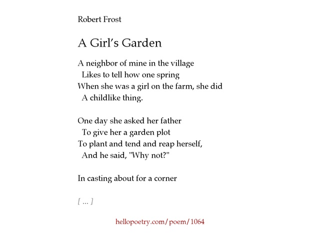robert frost ideas The road not taken by robert frost determine two or more themes or central ideas of a text and analyze their development over the course of the text.