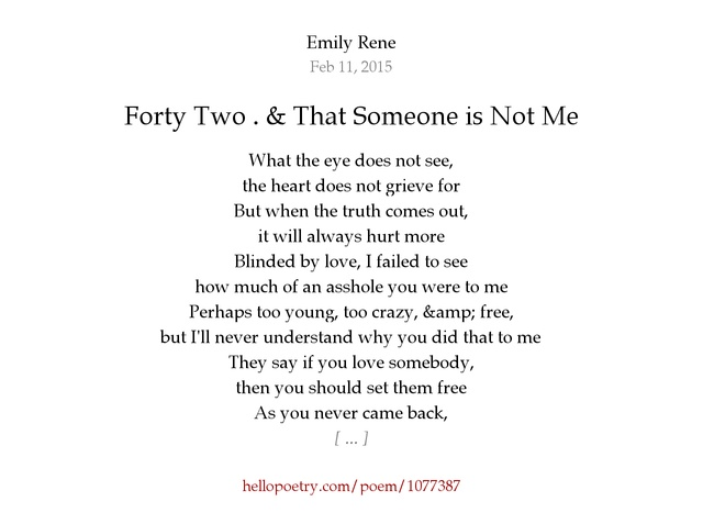 If You Love Someone Set Them Free Poem